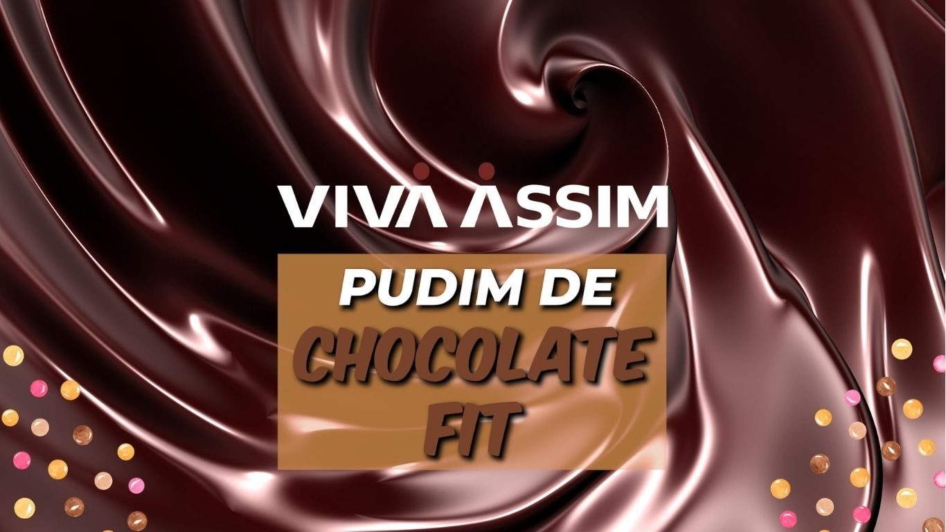 Pudim de chocolate fit